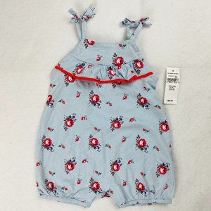 Baby Gap Girls Romper 3-6 Month Ruffle Floral